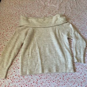 off the shoulder wool sweater